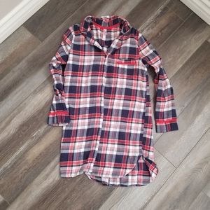 Target Women's Xsmall Flannel Plaid Tunic Blouse M